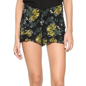 FREE PEOPLE Fiona Printed Flutter Shorts Size 2